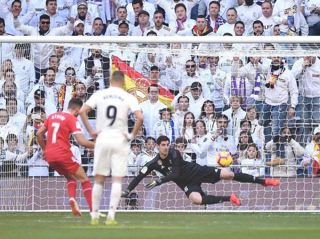 Hasil Liga Spanyol: Madrid Kalah 1-2 dari Girona, Ramos Kartu Merah