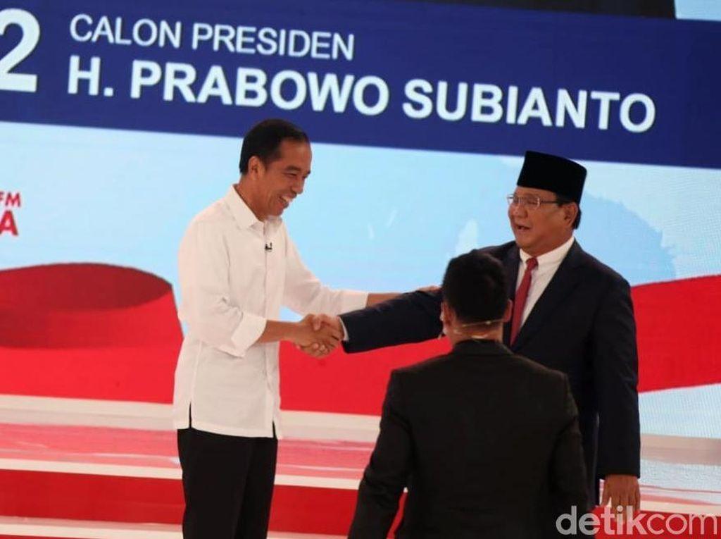 Momen Jokowi dan Prabowo Debat Unicorn Online-online