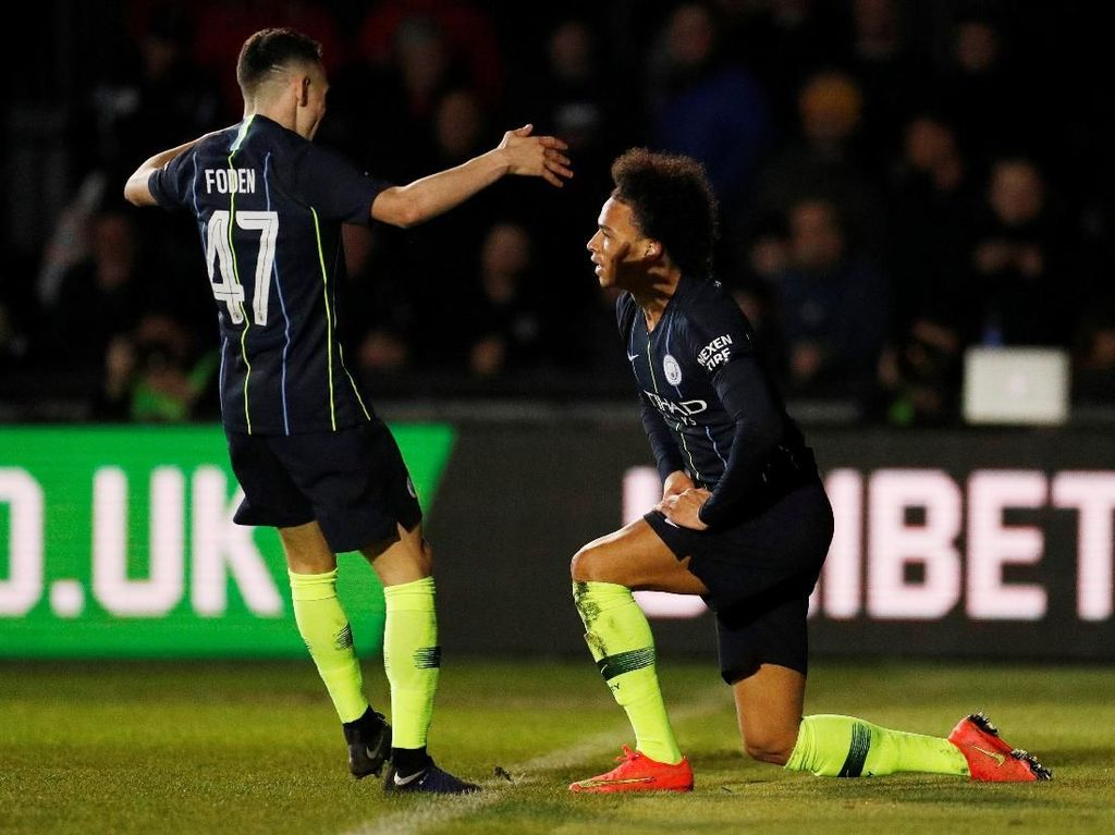 Hasil Piala FA: Newport County 1-4 Man City
