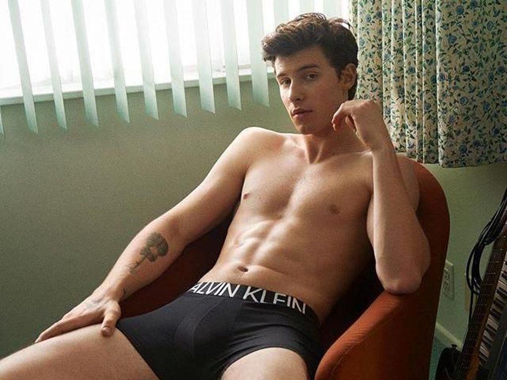 Meme Kocak Netizen Lihat Foto Seksi Shawn Mendes di Calvin Klein