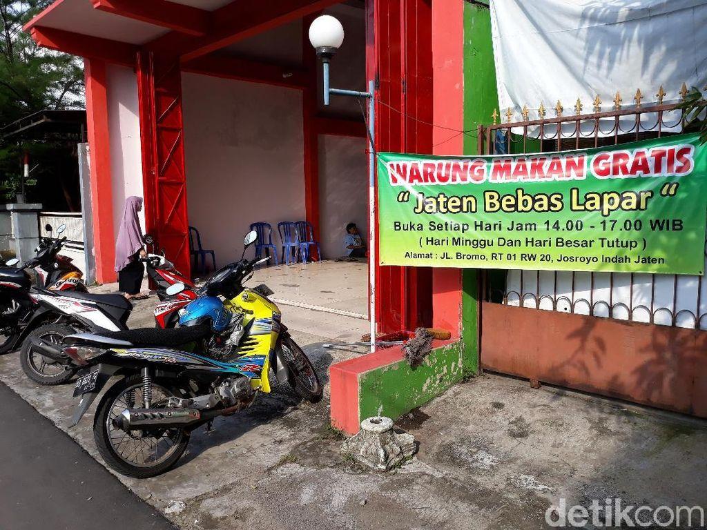 Di Karanganyar, Ada Warung Makan Gratis untuk Pelanggan Tiap Hari