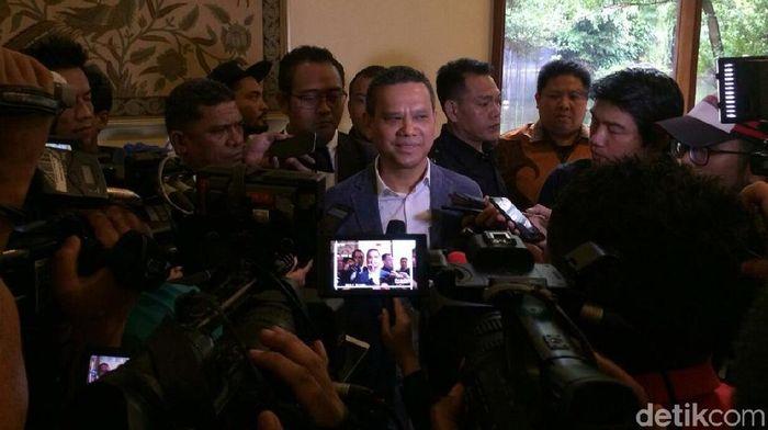 Direktur Utama PT Liga Indonesia Berlinton Siahaan (Amalia Dwi Septi/detikSport)