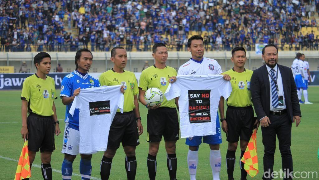 Persib vs Arema: Hariono dan Hamka Kampanyekan Antirasis dan Perdamaian Suporter