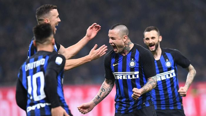 Inter Milan menang 2-1 atas Sampdoria (Foto: Daniele Mascolo/Reuters)