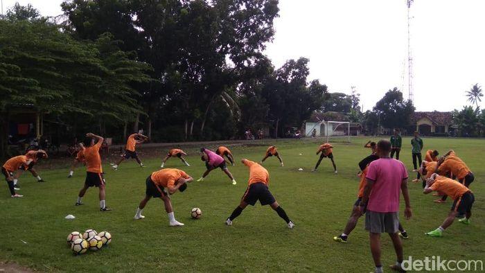 PSS Sleman berlatih menuju Piala Presiden 2019. (Ristu Hanafi/detikSport)