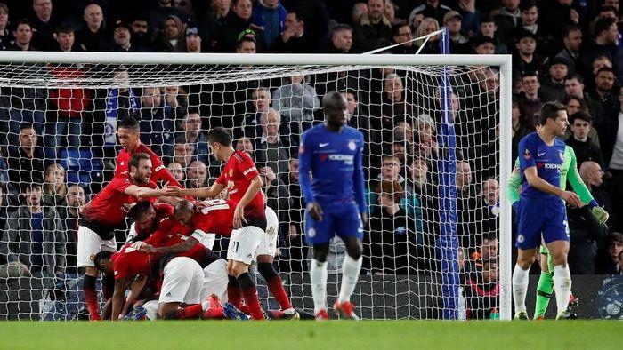 Manchester United menyingkirkan Chelsea di babak kelima Piala FA. (Foto: David Klein/Reuters)