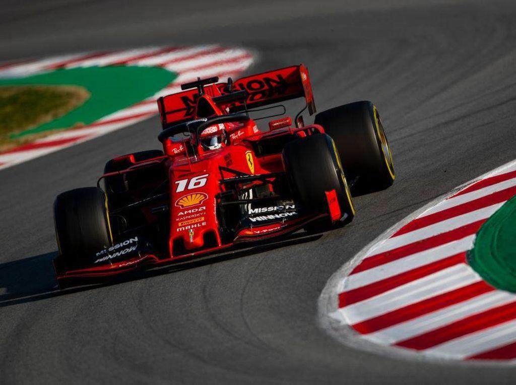 Ferrari Kembali Tercepat, Giliran Leclerc Kuasai Hari Kedua Tes F1 Barcelona