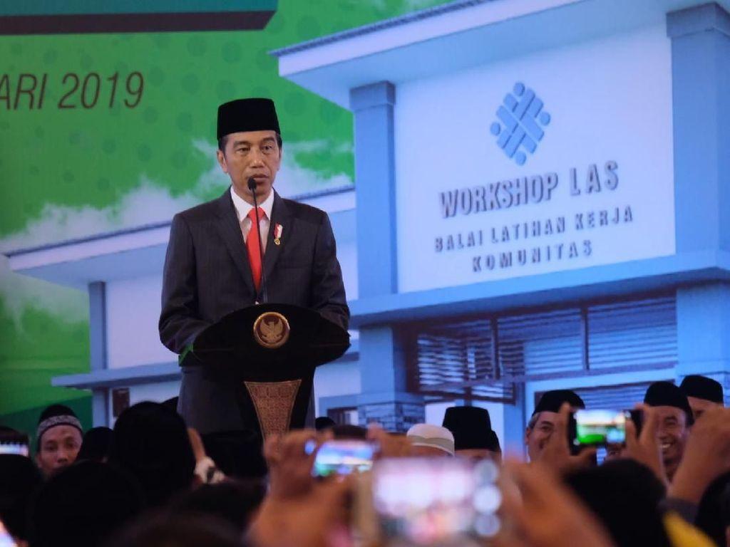Jokowi Targetkan 3.000 Balai Latihan Kerja Ponpes Dibangun Tahun 2020