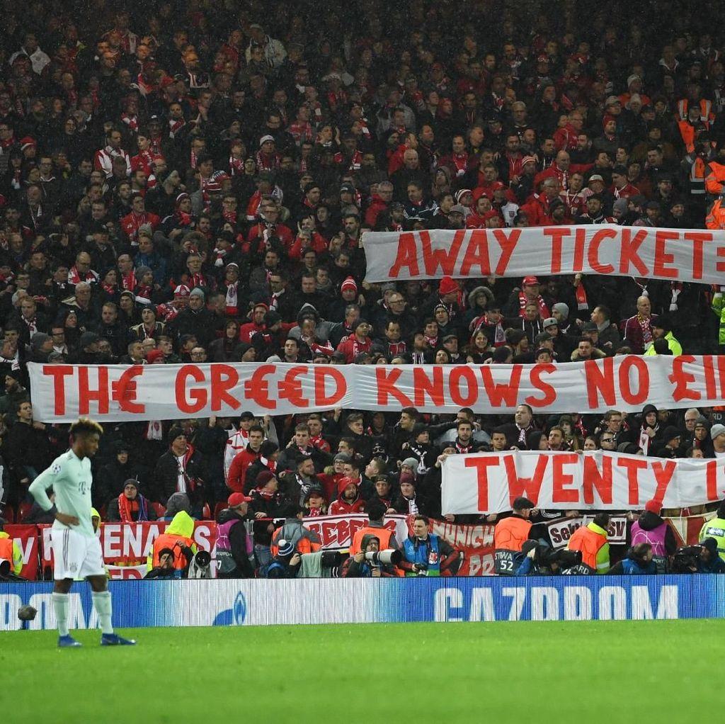 Liverpool vs Bayern: Pemain Berduel, Fans Bersatu Protes Harga Tiket