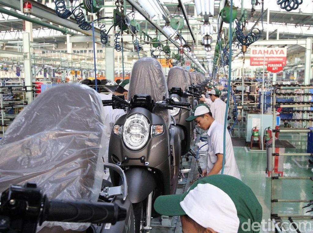 Ekspor Motor Honda Buatan Indonesia Capai 17.300 Unit