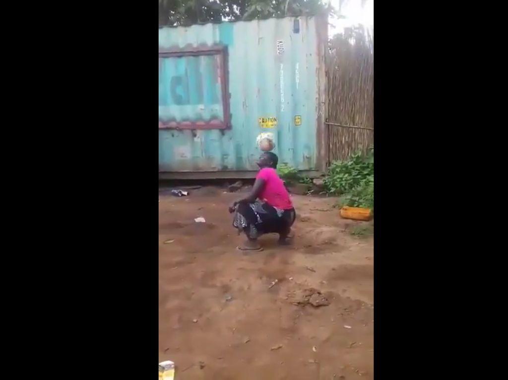 Viral Video Wanita Afrika Juggling Bola yang Dipuji Donald Trump
