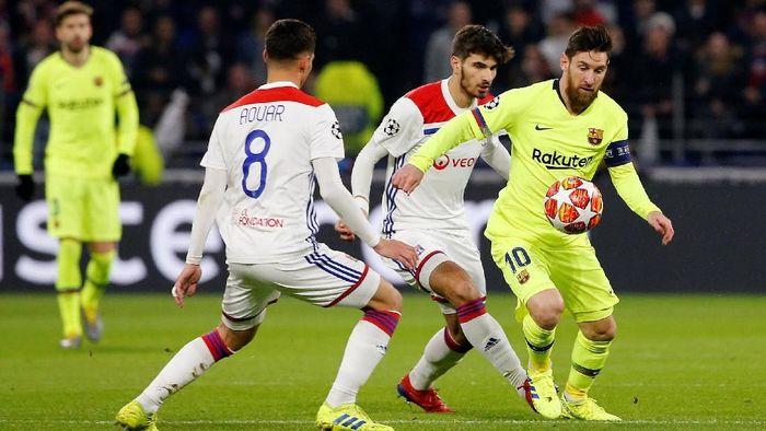 Lyon vs Barcelona masih 0-0 di babak pertama (Foto: Jean-Paul Pelissier/REUTERS)