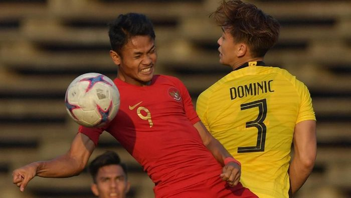 Muhamad Dimas Drajad di Timnas Indonesia U-23. (Foto: Nyoman Budhiana/ANTARA Foto)