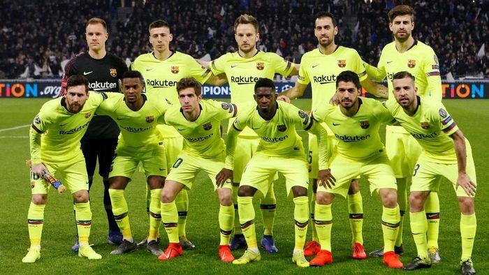 Barcelona tandang ke markas Lyon di Groupama Stadium di pertandingan leg pertama 16 besar Liga Champions, Rabu (20/2/2019) dini hari WIB. Foto: Emmanuel Foudrot/Reuters