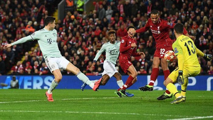 Liverpool vs Bayern Munich imbang 0-0 di babak pertama. (Foto: Stu Forster/Getty Images)