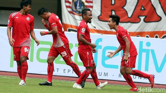 Persija Jakarta menang 2-0 atas Tira Persikabo di leg kedua 16 besar Piala Indonesia. Persija lolos ke perempatfinal. (Foto: Rengga Sancaya/detikSport)