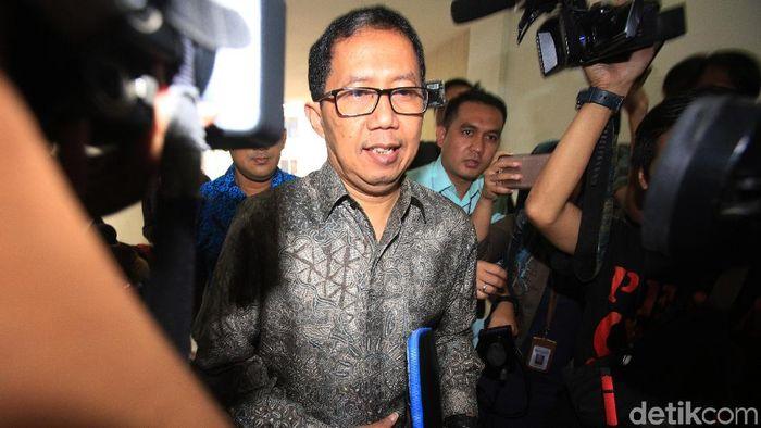 Plt Ketua Umum PSSI Joko Driyono ditahan 20 hari. (Lamhot Aritonang/detikSport)