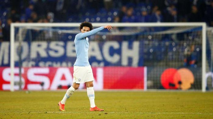 Leroy Sane selepas laga Manchester City dengan Schalke. (Foto: Wolfgang Rattay/Reuters)