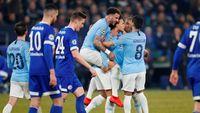Hasil Liga Champions: 10 Pemain City Taklukkan Schalke 3-2