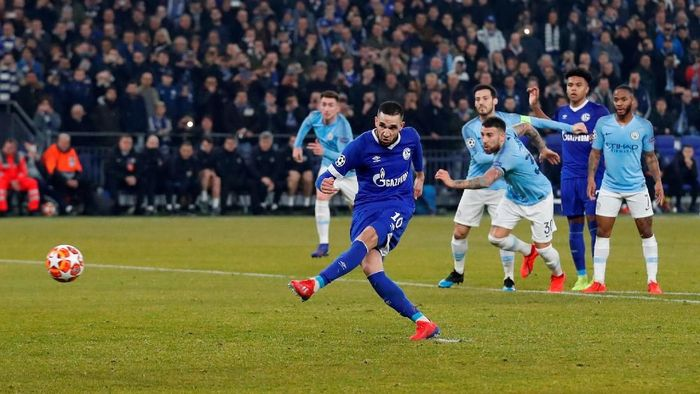 Manchester City diganjar dua penalti. (Foto: Matthew Childs/Reuters)