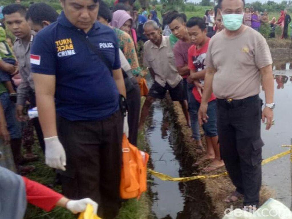 Polisi Kejar Pembuang Bayi di Sawah Situbondo