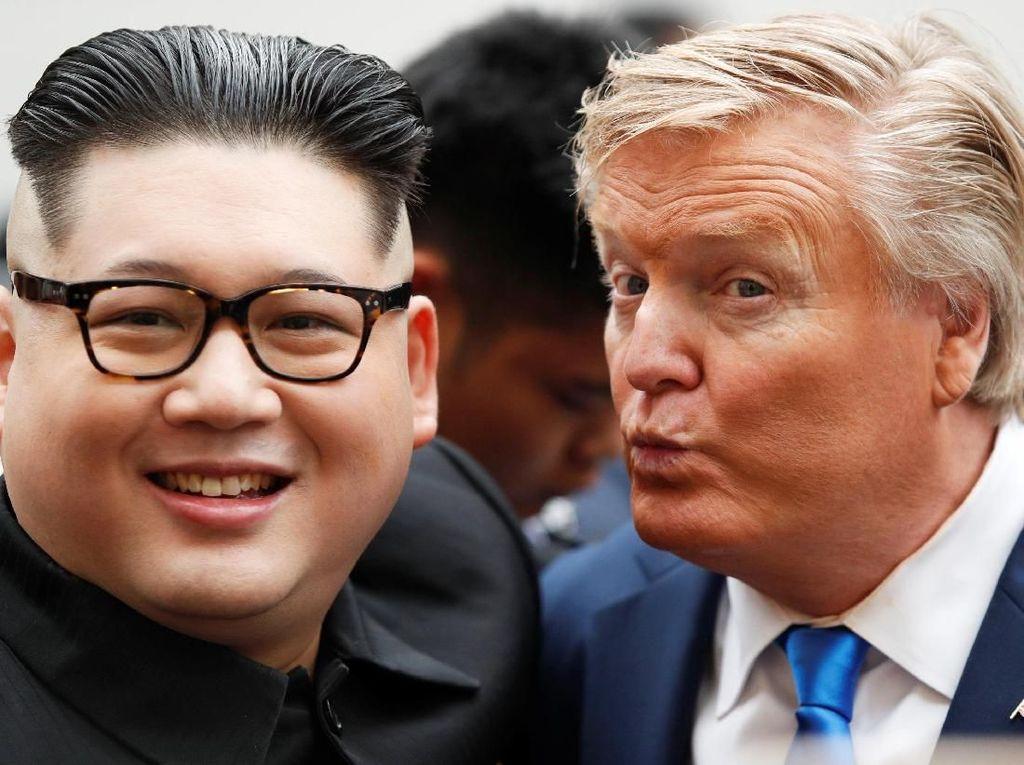 Foto Bareng, Kim Jong-Un dan Trump Imut Banget