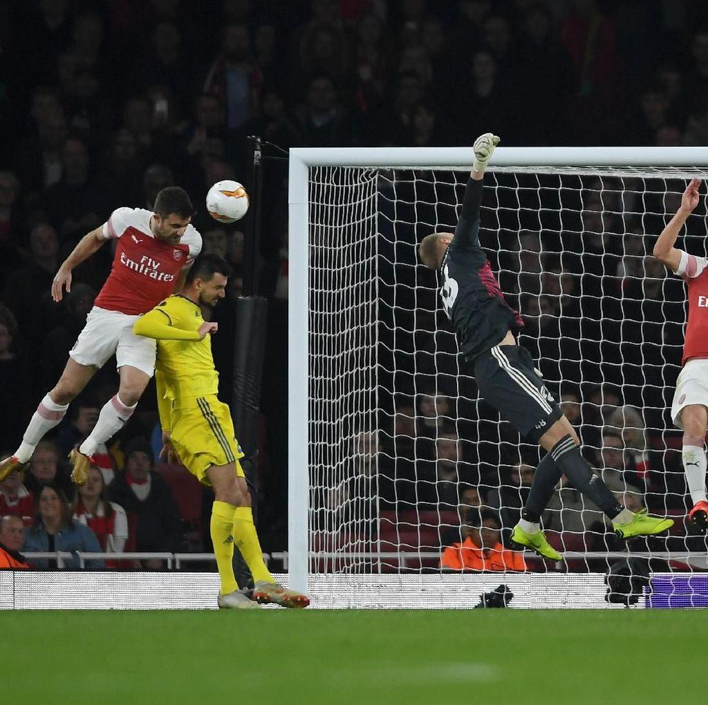 Hasil Liga Europa: Kalahkan BATE 3-0, Arsenal ke Babak 16 Besar