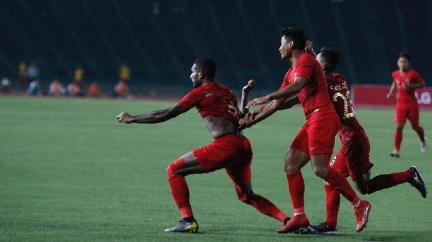 Timnas Indonesia U-22 tak terkalahkan di babak penyisihan.
