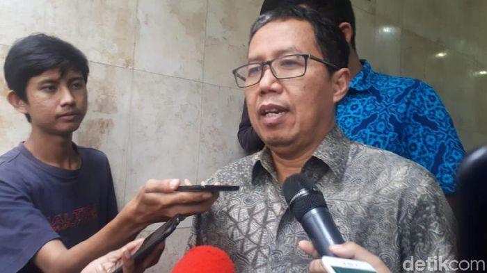 Plt Ketum PSSI Joko Driyono ditahan Satgas Anti Mafia Bola (Foto: Mercy Raya/detikSport)