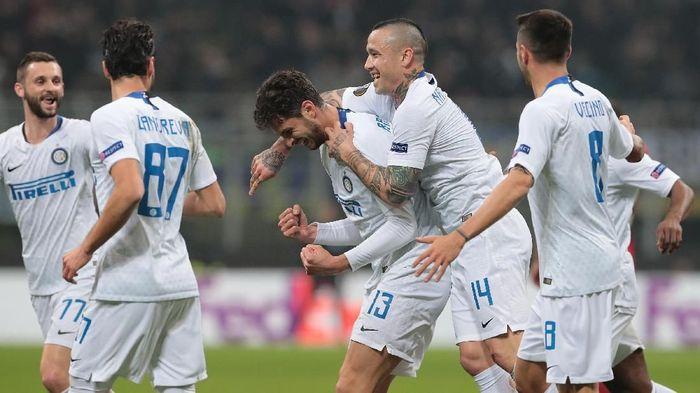 Inter Milan lolos ke babak 16 besar Liga Europa (Foto: Emilio Andreoli/Getty Images)