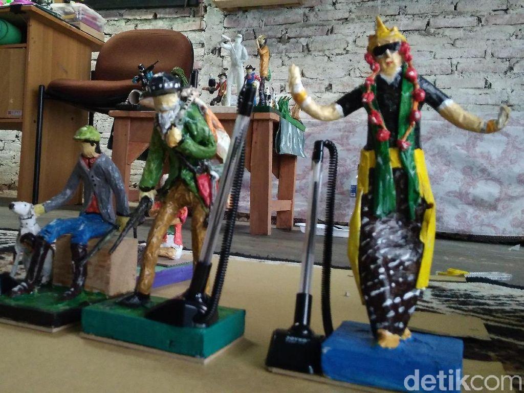 Keren! Limbah Kertas Disulap Jadi Patung Dijual ke Luar Negeri