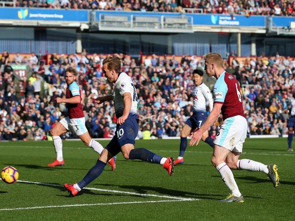 Hasil Liga Inggris: Kane Comeback, Tottenham Tumbang di Markas Burnley