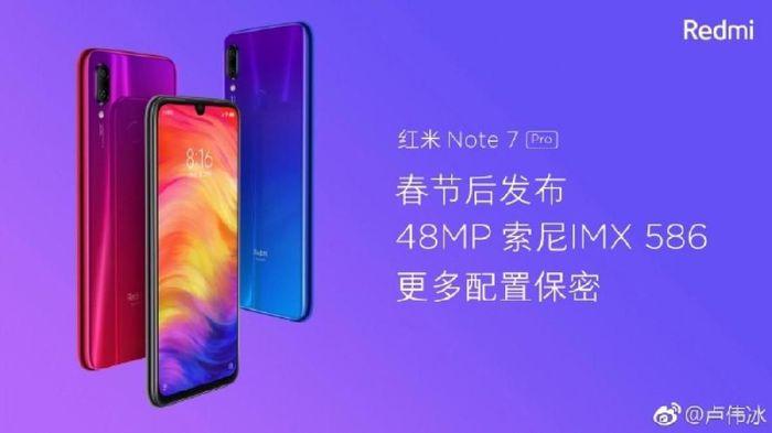 Spesifikasi Redmi Note 7 Pro sudah bocor jelang rilis. (Foto: Weibo via GSM Arena)