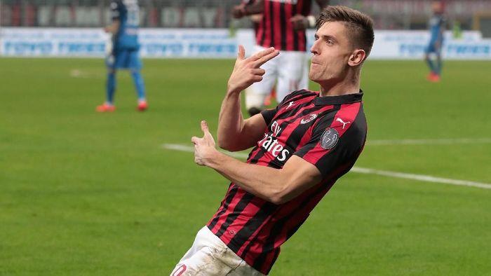 Penyerang AC Milan, Krzysztof Piatek. (Foto: Emilio Andreoli/Getty Images)