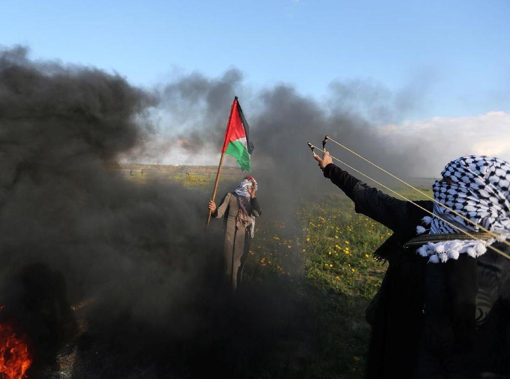 Pemuda Palestina Adang Prajurit Israel, Satu Tewas