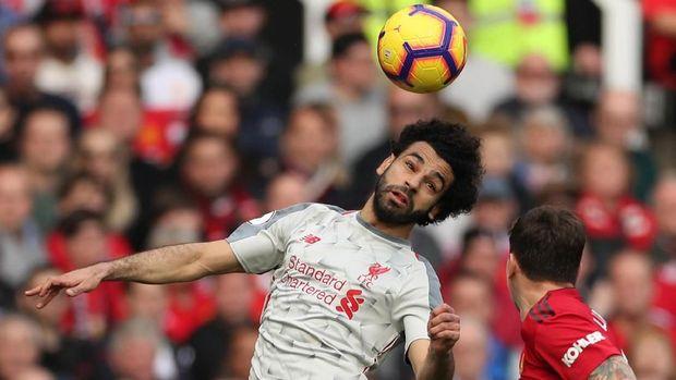 Mohamed Salah belum mendapat peluang bersih di babak pertama.