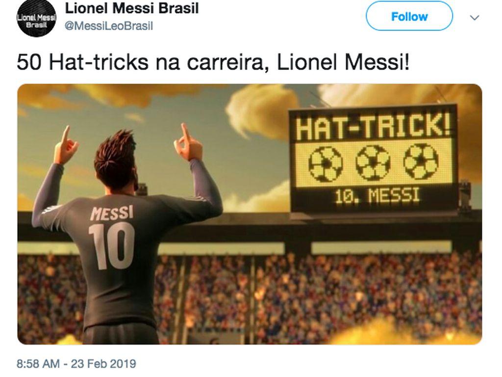 Messi Panen Sanjungan di Medsos, Statistik Hebatnya Diumbar