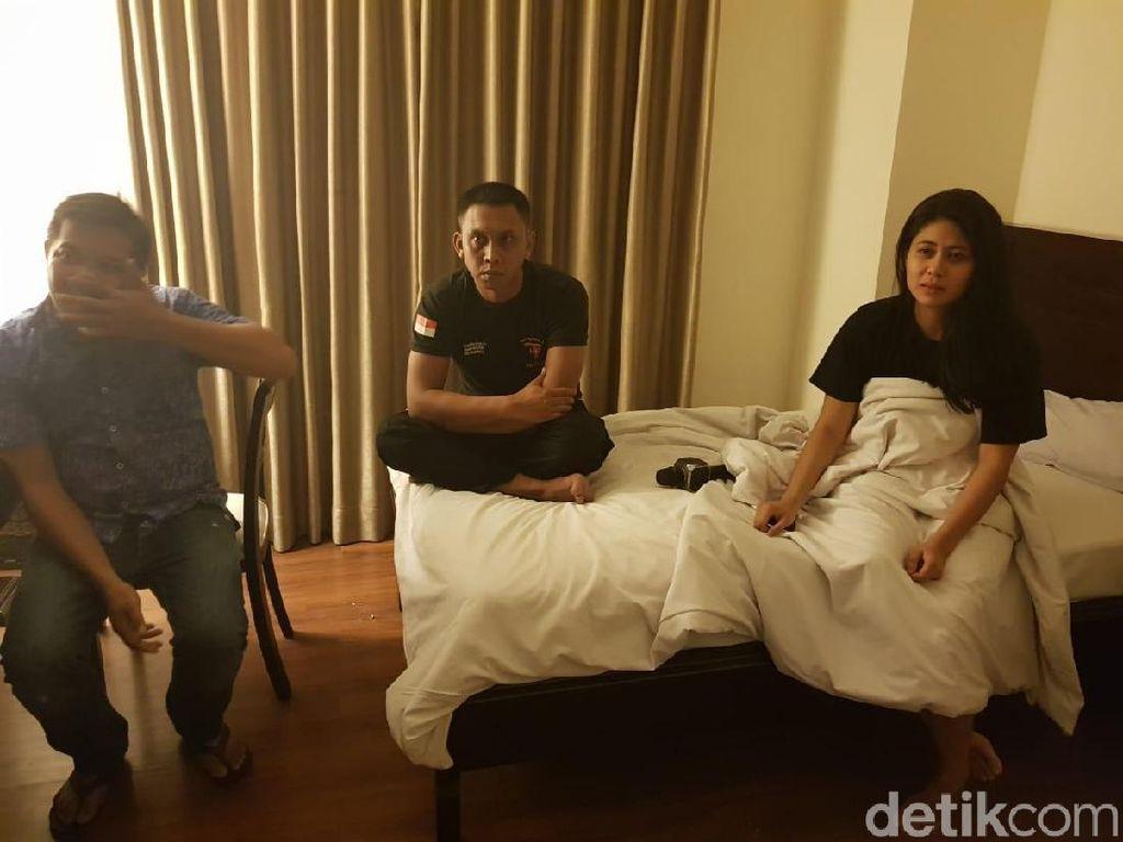 Tampang 3 Polisi dan 1 Wanita yang Ditangkap Lagi Nyabu di Makassar