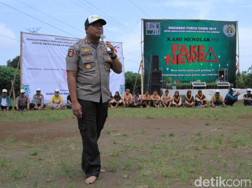 Ratusan Warga Kabupaten Bandung Nyeker Deklarasi Pemilu Damai