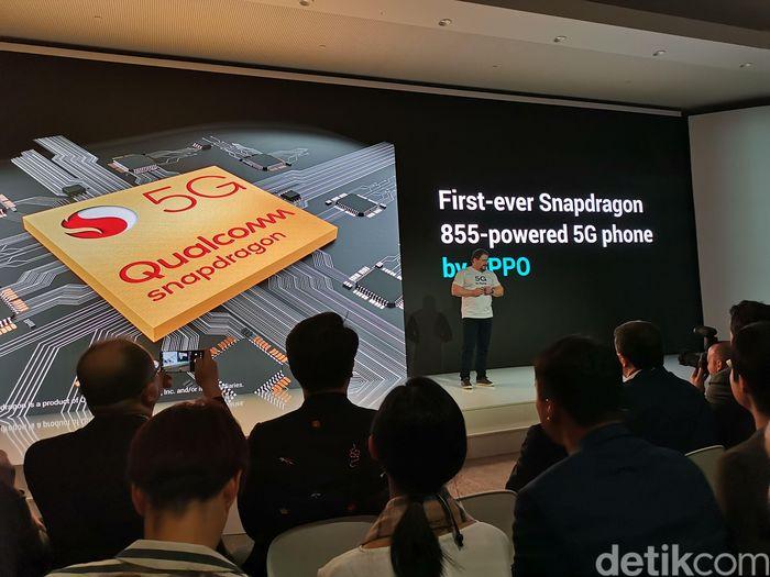 Pengumuman ponsel 5G Oppo. Foto: Anggoro Suryo Jati/detikinet