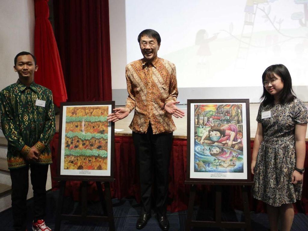 Dua Pelukis Indonesia Juara Lomba Lukis Internasional Kao