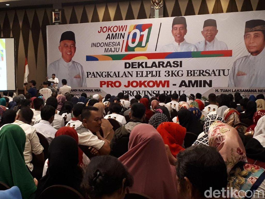 Komunitas Pengusaha Pangkalan Elpiji 3 Kg di Riau Deklarasi Pro-Jokowi