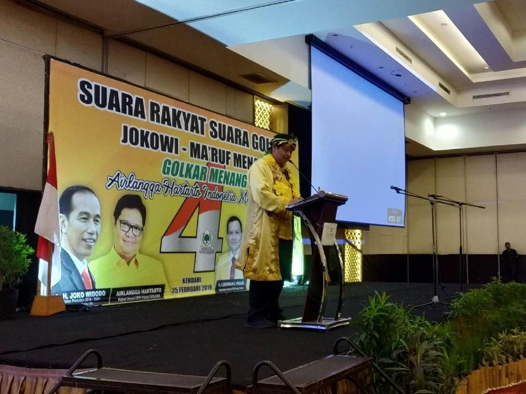Kata Airlangga soal Pidato Jokowi Tunggu Pengembalian Konsesi Lahan
