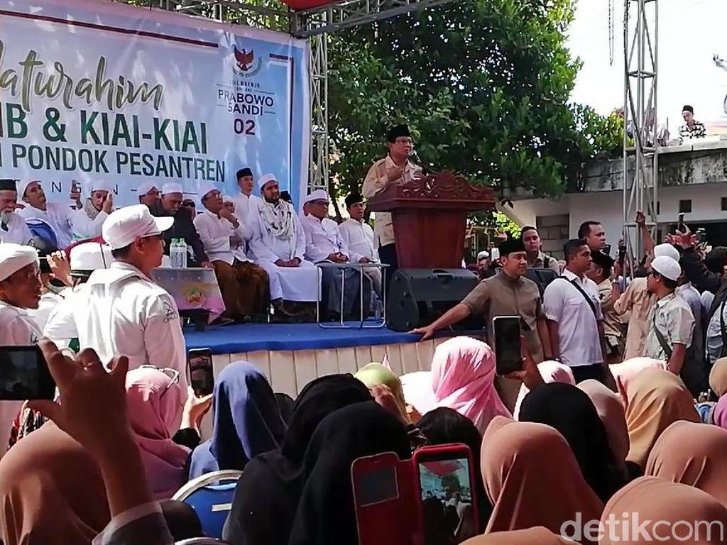 Jika Jadi Presiden, Prabowo Janji Tak akan Perkaya Diri dan Kroni