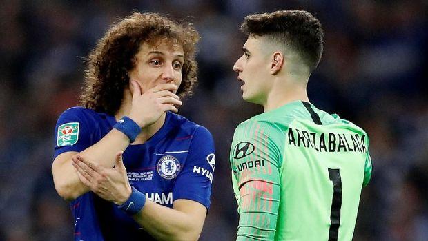 David Luiz sempat meminta Kepa menghormati keputusan Sarri