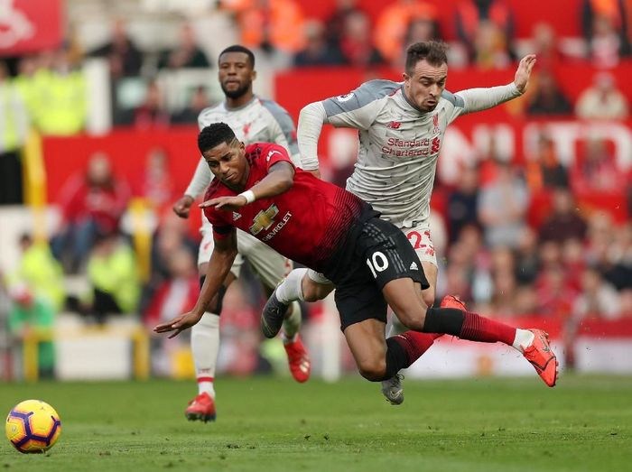 Duel MU Vs Liverpool masih dianggap sebagai pertandingan terbesar di Liga Inggris. Foto: Reuters