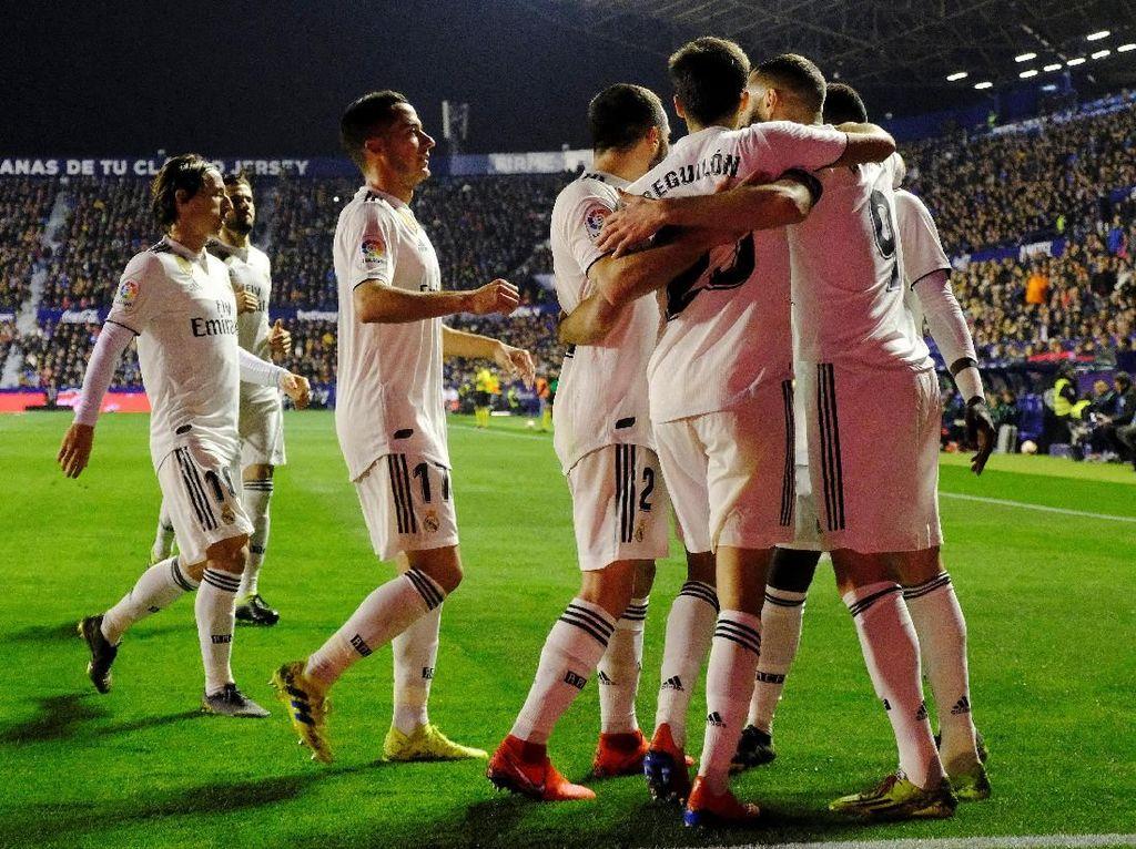 Hasil Liga Spanyol: Dua Kali Penalti, Madrid Kalahkan Levante 2-1
