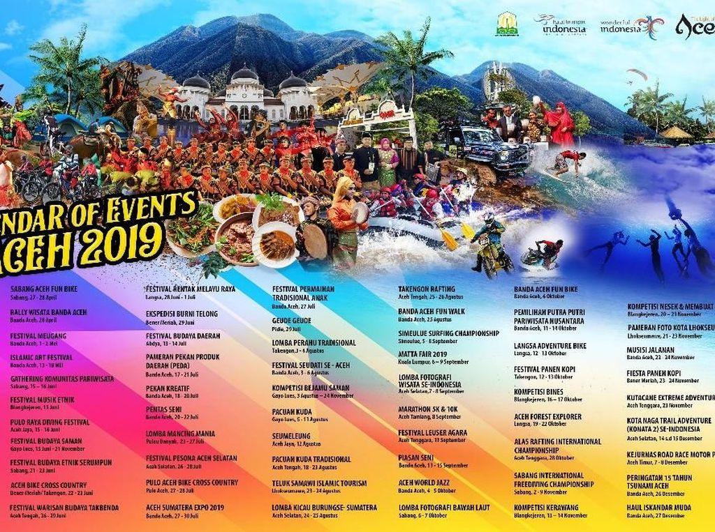 Bikin 100 Event, Aceh Targetkan 3 Juta Wisatawan
