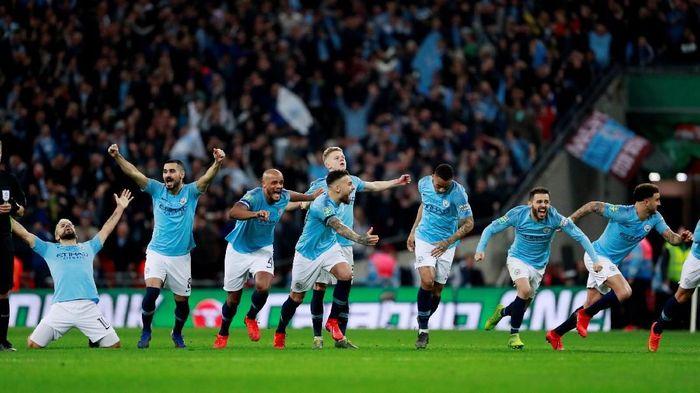 Manchester City saat menjuarai Piala Liga Inggris 2018/2019. (Foto: Andrew Couldridge/Action Images via Reuters)