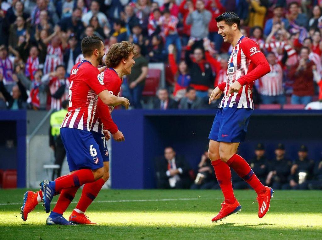 Hasil Liga Spanyol: Morata Cetak Gol, Atletico Kalahkan Villarreal 2-0